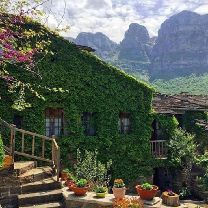 Saxonis Houses,Papigo,Zagori,Greece