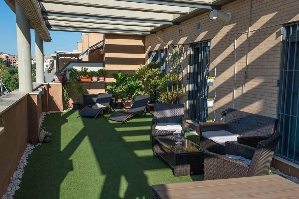 Cómoda terraza