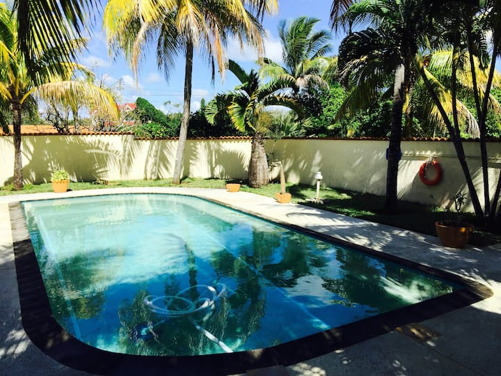 Bungalow with one bedroom in Calodyne, with private pool, enclosed garden and WiFi - 500 m from the beach