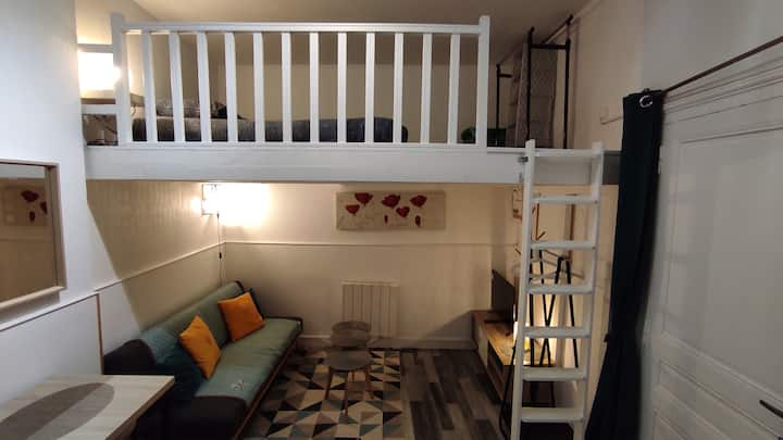 Studio 2/3 pers + mezzanine