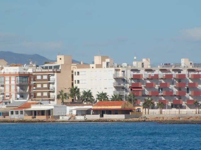 Beach front apartment with amazing views - Puerto de Mazarrón