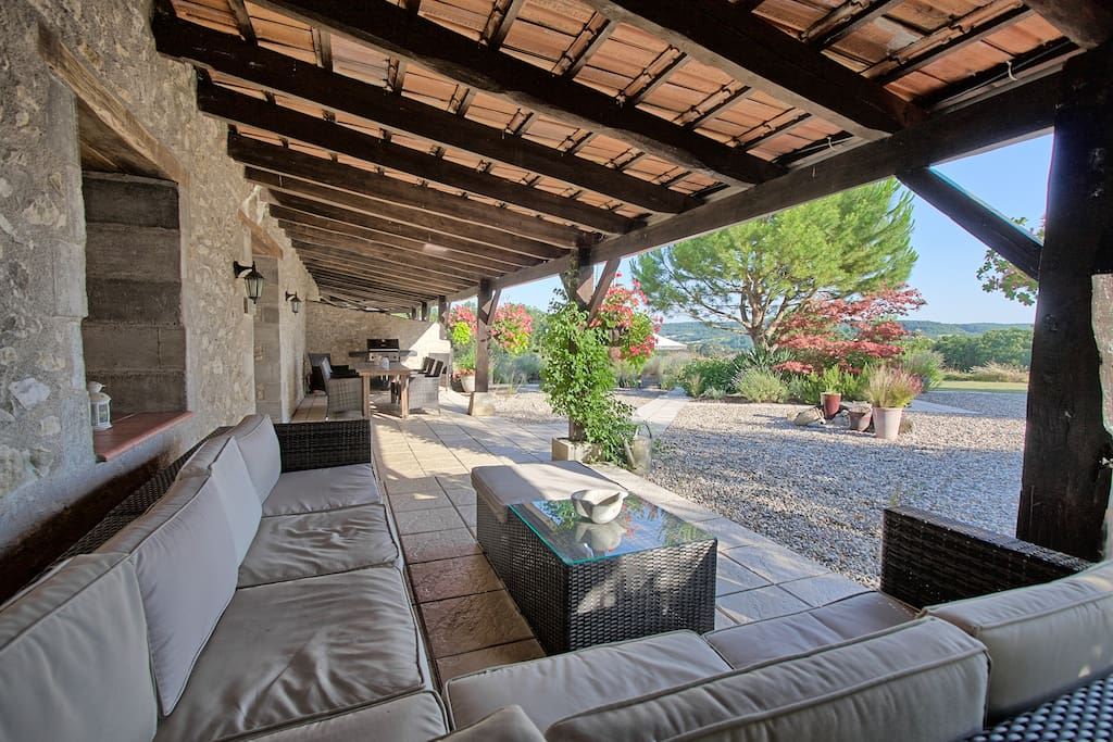 Large private covered terrace