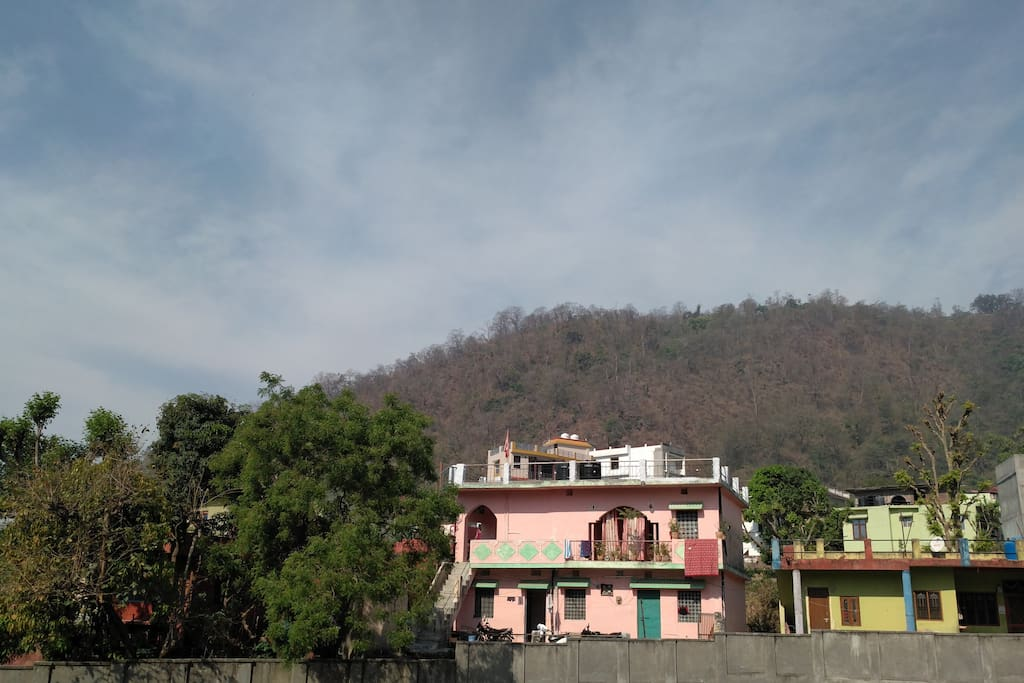 Enjoy both the worlds....We are close to Ganges and have view of hills as well
