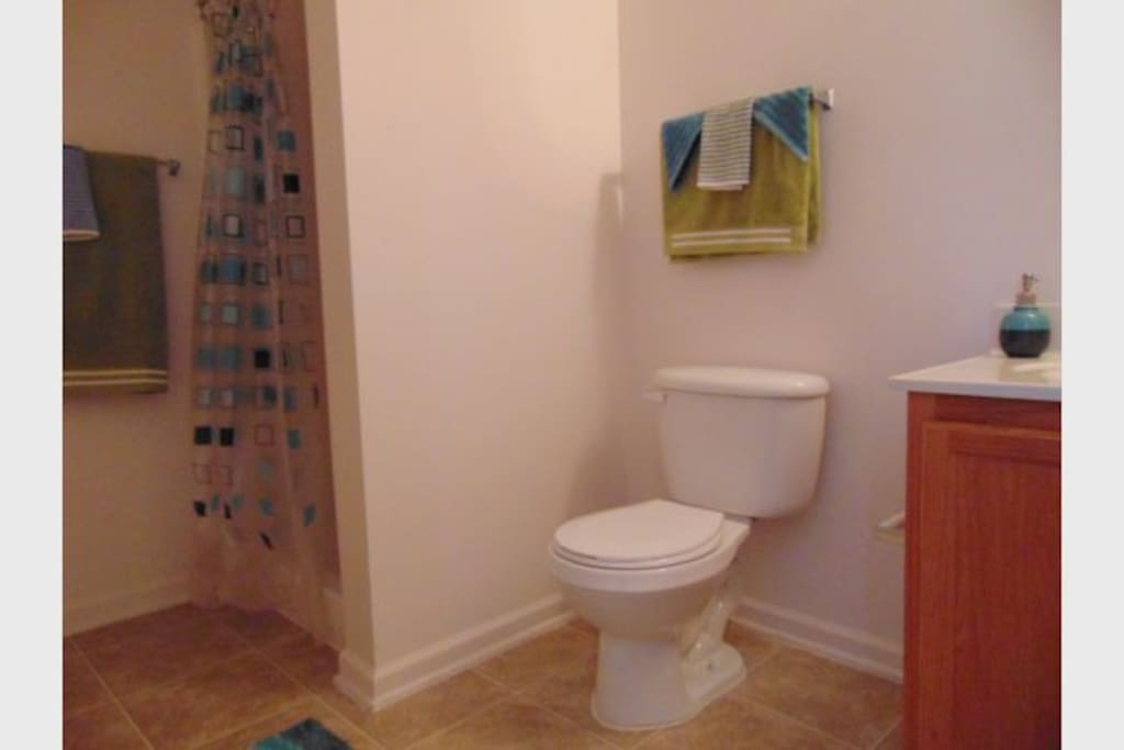 Your own personal bathroom located straight across from your room.