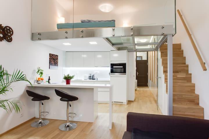 Modern loft in center