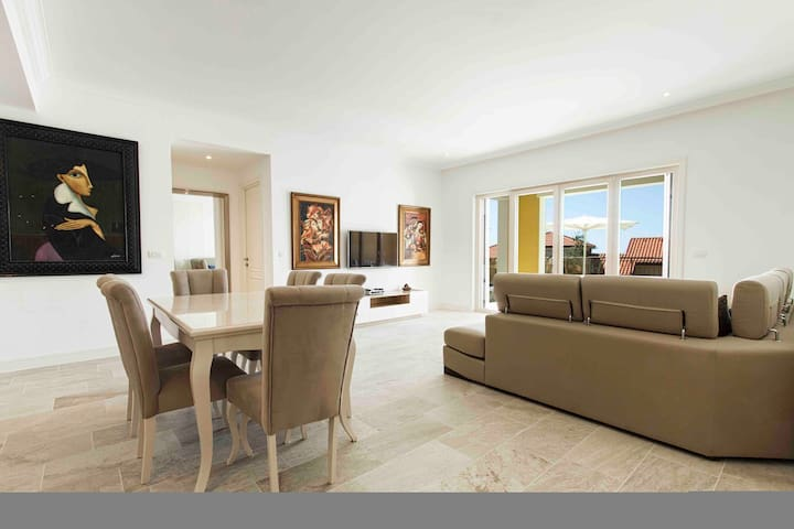 Lustica Jewel condo with large Sea View Terrace.