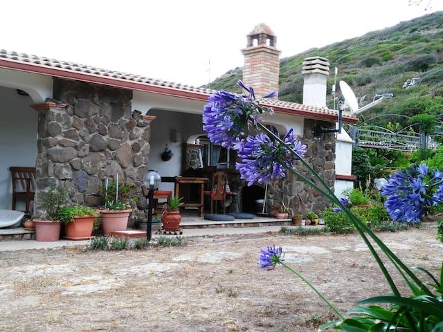 Esterno casa, sullo sfondo il gazebo