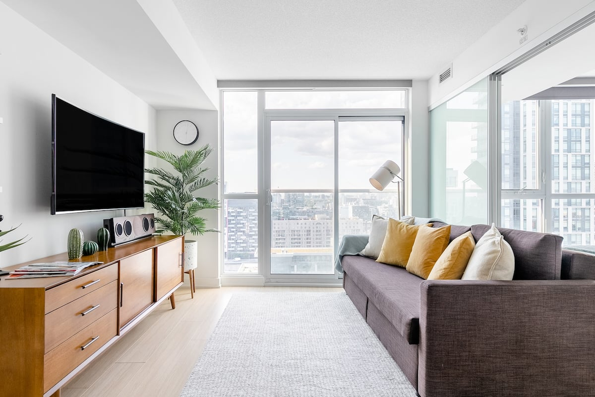 Walk to Rogers Centre From a Hip Apartment with City Views