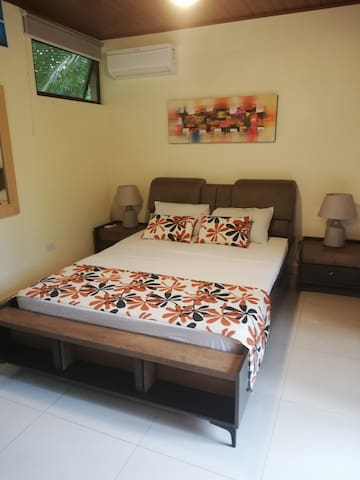European queen size bed inside our Accessible Sudio room
