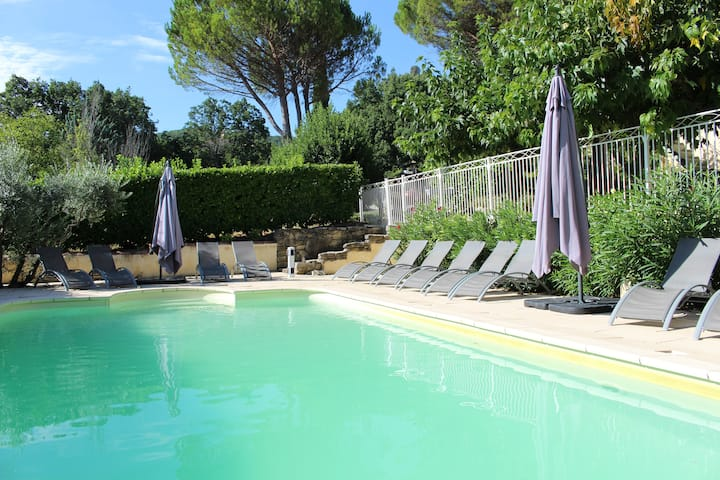 6-bed house with heated pool in Apt Luberon