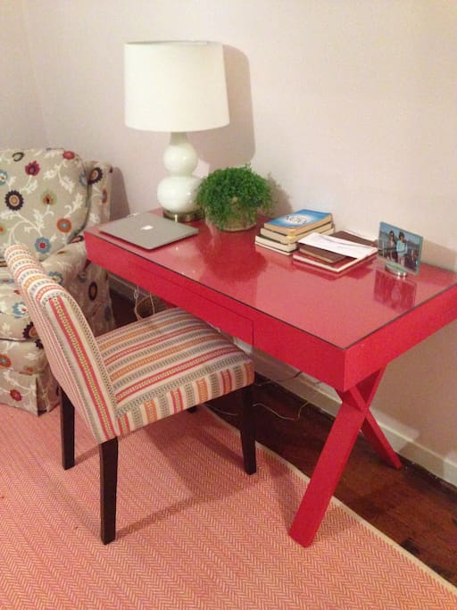 Desk in First Bedroom
