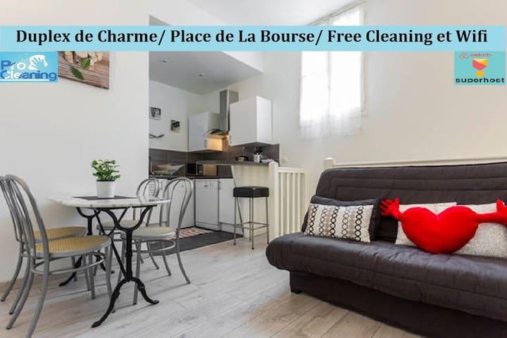 Charming duplex / Place de La Bourse / Rue St Rémi