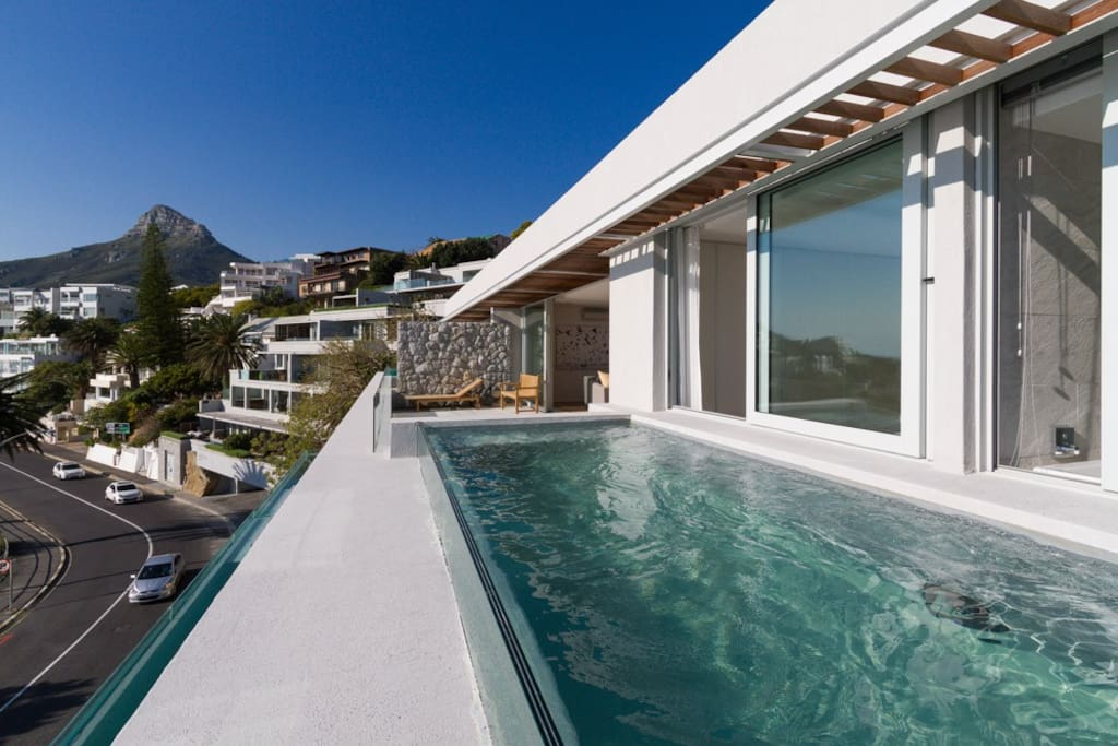 Private pool and decking area