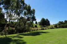 Extensive lawns to wander and relax on