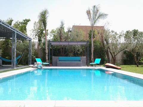 villa with private heated pool not overlooked
