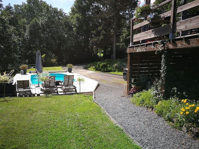 maison 9 personnes avec piscine