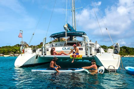 Sail the Virgin Islands on a 57' classic Catamarn
