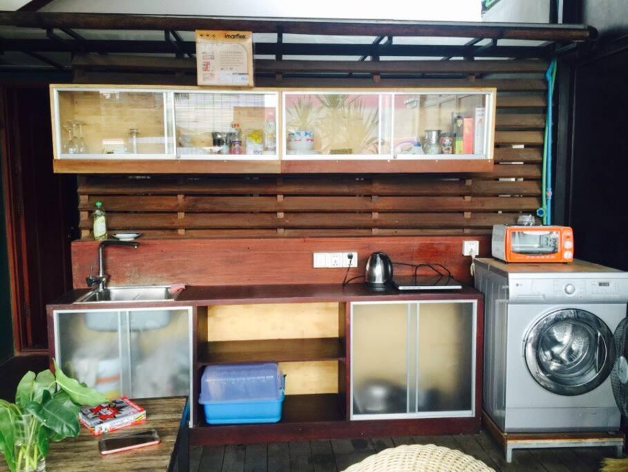 Kitchen in open terrace