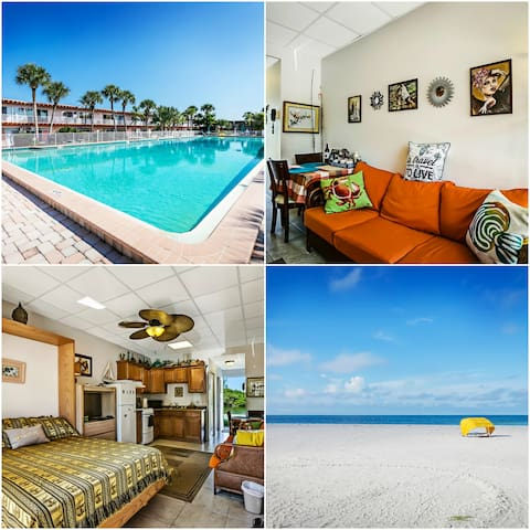 Condo:Beach:2 min walk:Water Front:Swimmingpool - Indian Shores