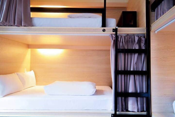 Double Bed in Mixed Dormitory Room Starbox Hostel