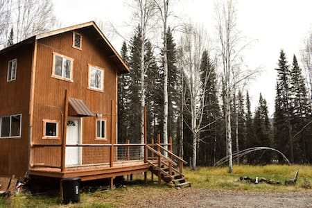 Comfy/Private Alaskan Style Cabin on a Mountain
