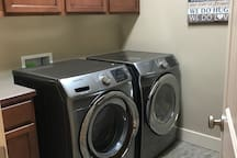 Laundry room available for guest access