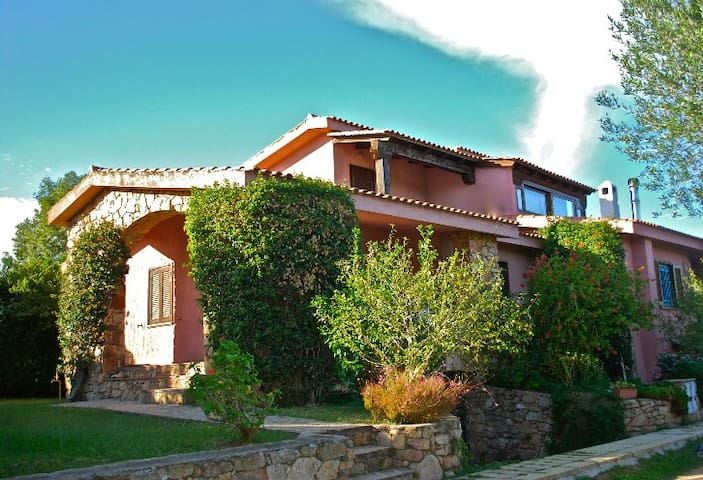 Nice villas with large garden and sea views