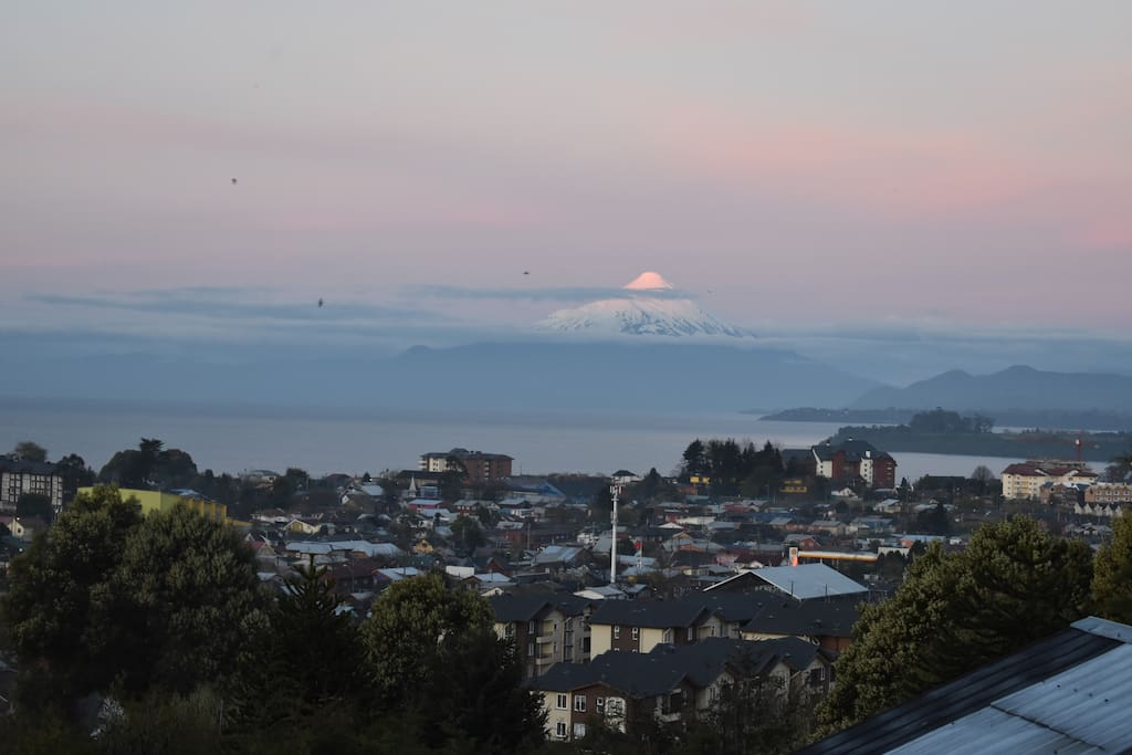 osorno volcano from the balcony