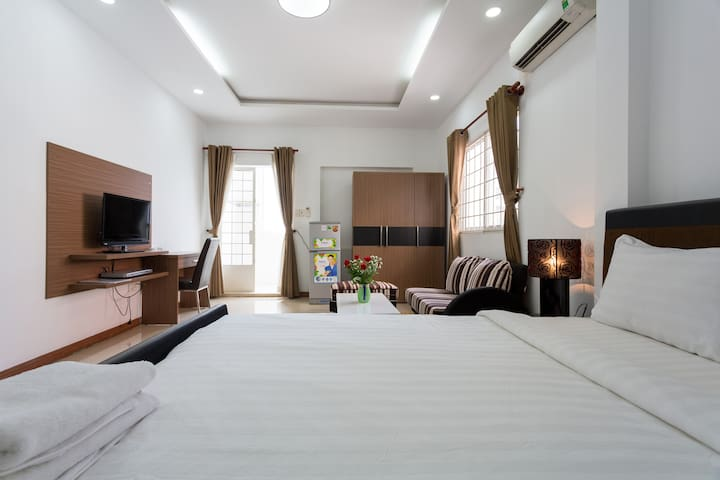 102 - Comfortable 1BR Apt. / Close to City Center - Hô-Chi-Minh-Ville - Bed & Breakfast