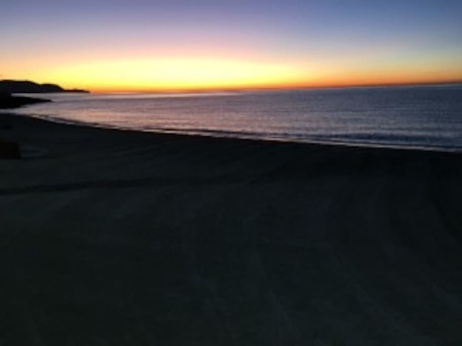 Espectacular sunrise from Torrecilla beach and from the Torresol roof terrace