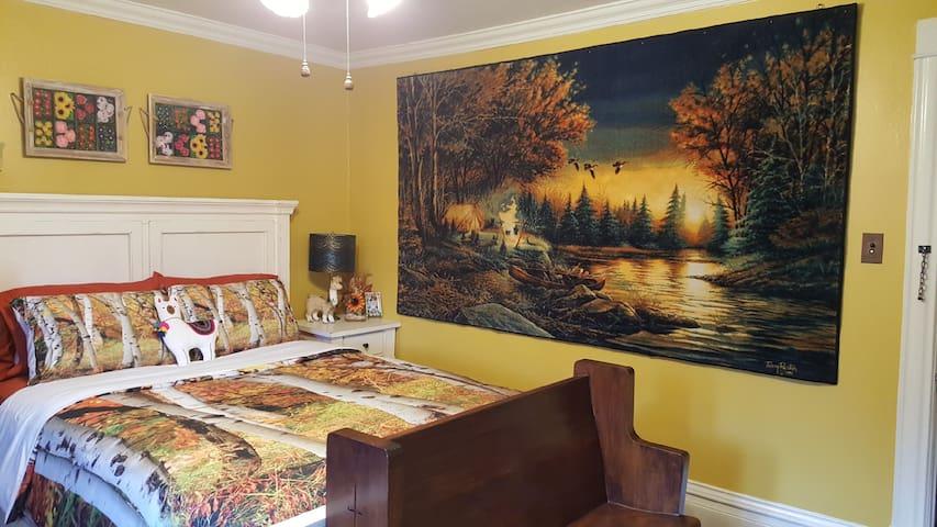 Historical home w/breakfast & treats (Yellow Room)