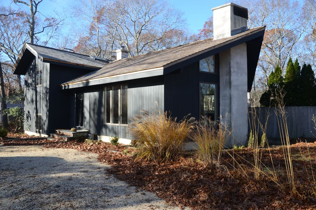 Exterior in late fall