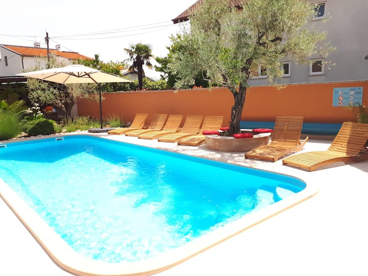 Comfortable apartment with a pool in Istria (gd)