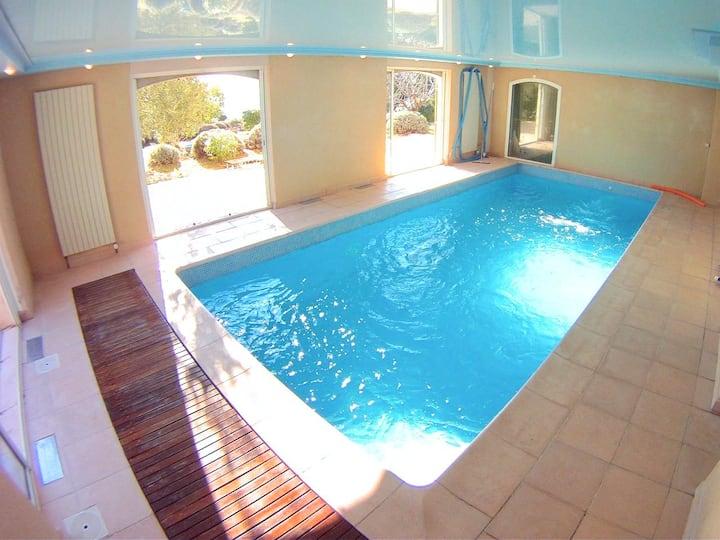 Villa SANTA FE, paradis enfants, piscine chauffée