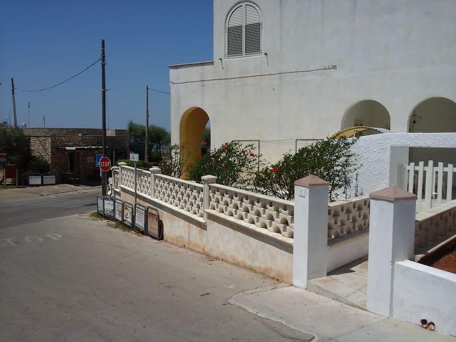 L'entrata della casa via Scalelle