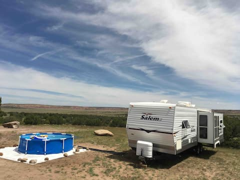 RV in the Remote Off Grid New Mexico Wilderness