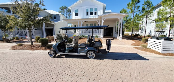 PRIVATE Heated Pool, 6-Seater Golf Cart, 5 Bikes!  Ride to the Beach! - Blue Heron Haven NatureWalk