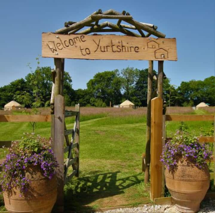 Yurtshire Glamping with Private Hot Tubs