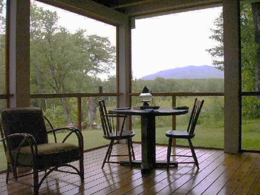 The screened porch