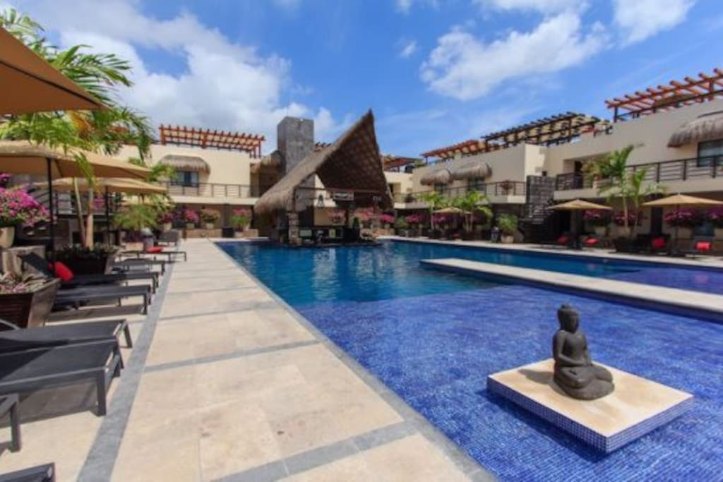 Aldea Thai's Main Pool. Ideal for guests of all ages!