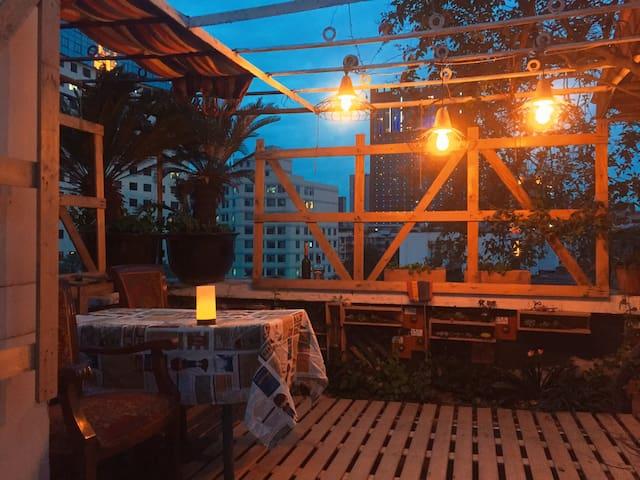 私家楼顶露天花园/2室1园/天府广场/人民公园/春熙路附近