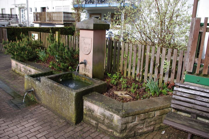 Dorfbrunnen vor dem Haus