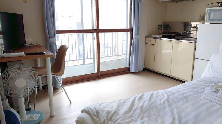 42 Cozy Room Near the Hokkaido Univ. Free Wi-Fi