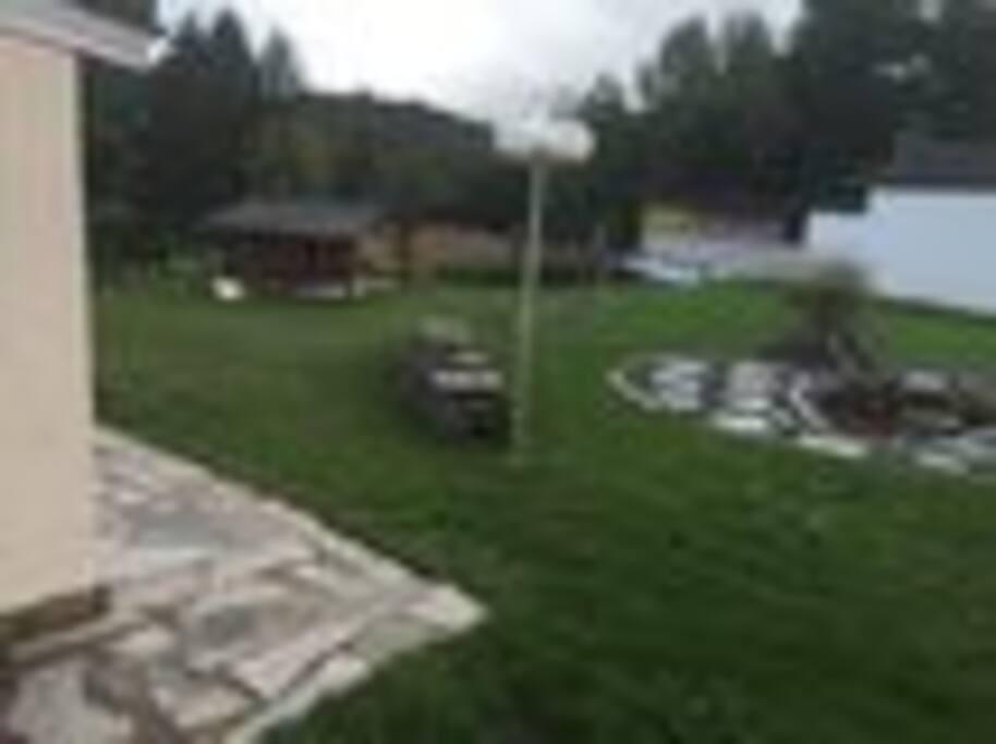 Natural sauna and pool in the backyard