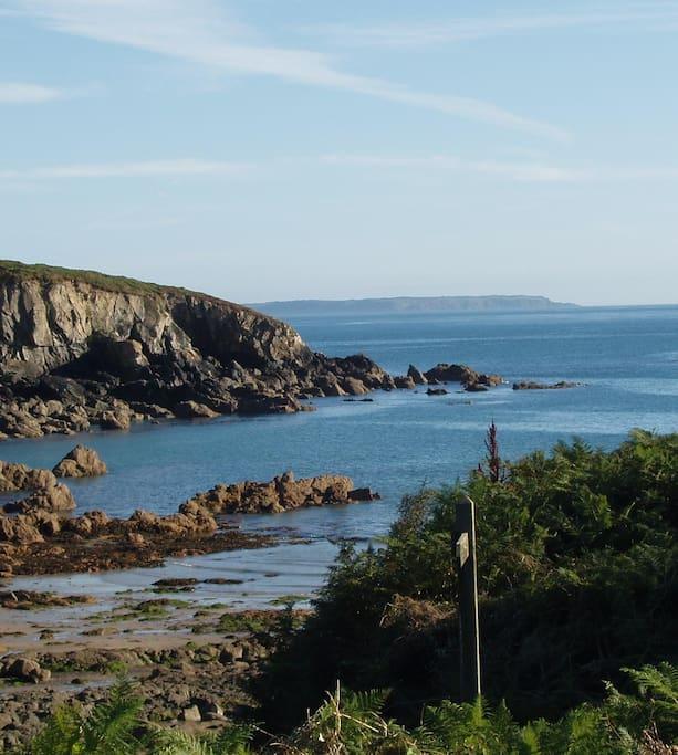 Nearby coastal view