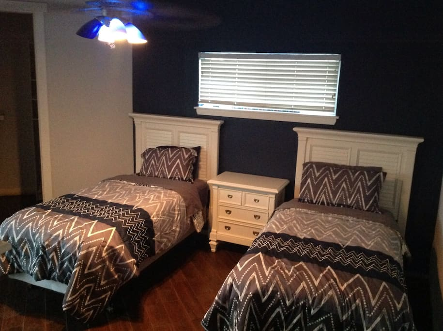In case you wish to change the configuration in second bedroom to single beds.  Your choice!