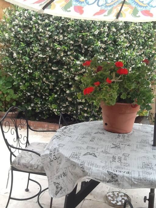 Your private patio