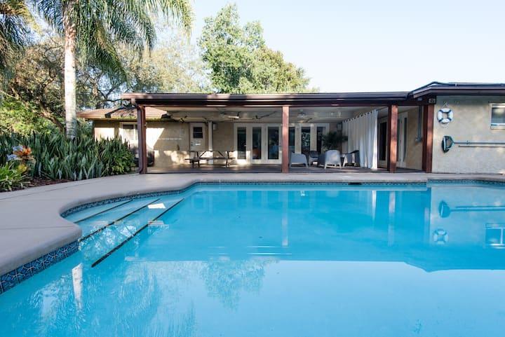 Modern Tropical Solar Heated Salt Pool Home