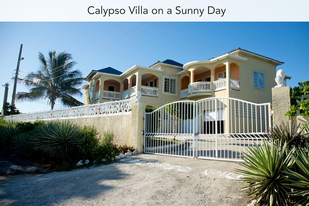 Calypso Villa has 9 apartments, we rent out 4 of them. (2016 photo)