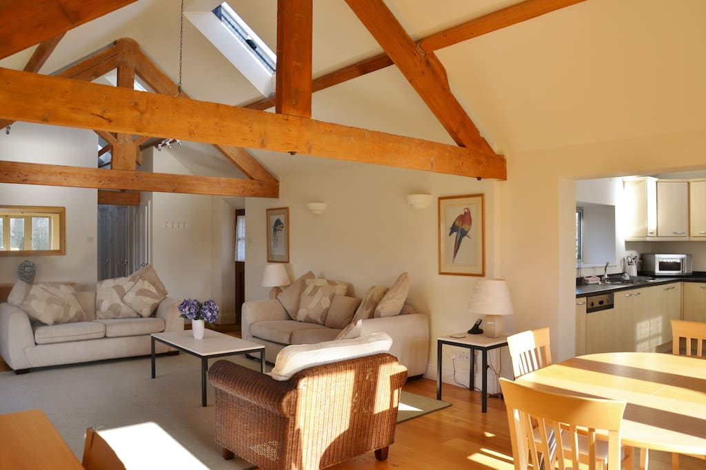 Open, light and spacious living area